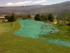 Hydroseeding and Mulching an area Golf Course